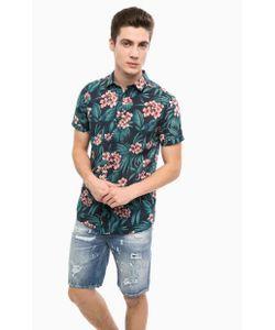 Mavi   Разноцветная Хлопковая Рубашка С Короткими Рукавами