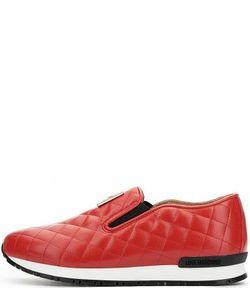 Love Moschino | Красные Кроссовки Из Искусственной Кожи