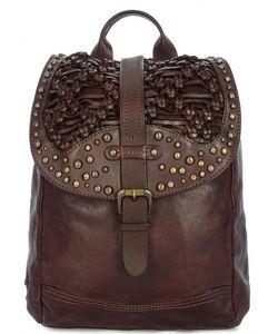Taschendieb | Кожаный Рюкзак С Металлическим Декором