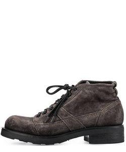 O.X.S. | Замшевые Ботинки Серого Цвета