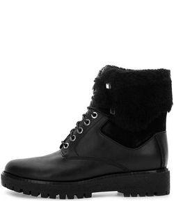 Michael Michael Kors | Черные Кожаные Ботинки На Шнуровке