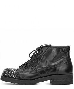 O.X.S. | Кожаные Ботинки На Шнуровке С Металлическим Декором