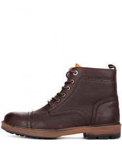 Pepe Jeans | Кожаные Ботинки На Шнуровке И Молнии