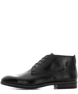 Tommy Hilfiger | Черные Кожаные Ботинки