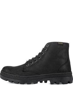 Palladium | Черные Ботинки Из Нубука На Шнуровке