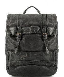 Bruno Rossi | Вместительный Кожаный Рюкзак С Откидным Клапаном