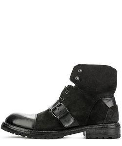 Moma | Кожаные Ботинки На Шнуровке