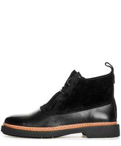 Clarks   Черные Ботинки Из Кожи И Замши На Шнуровке