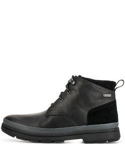 Clarks | Кожаные Ботинки С Замшевыми Вставками