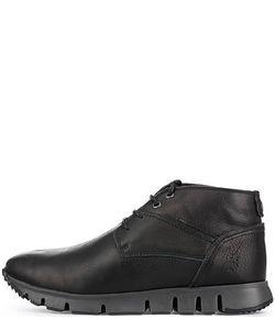 Fly London | Черные Кожаные Ботинки Без Каблука