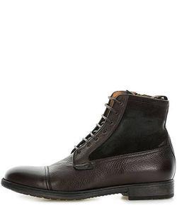 Geox | Кожаные Ботинки На Молнии И Шнуровке