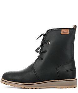 Lacoste | Черные Ботинки Из Натуральной Кожи