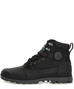 Palladium   Черные Кожаные Ботинки На Шнуровке