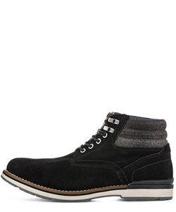 Tommy Hilfiger | Черные Замшевые Ботинки