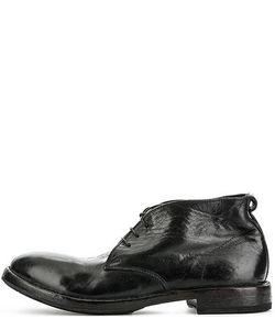 Moma | Черные Кожаные Ботинки На Шнуровке