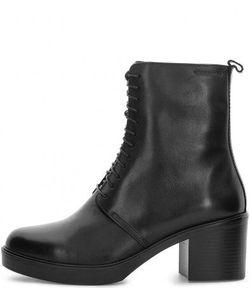 Vagabond | Черные Кожаные Ботинки На Каблуке