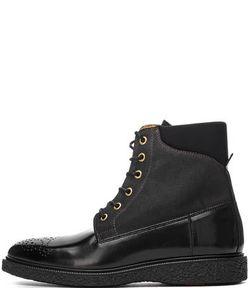 Gant | Черные Ботинки Из Натуральной Кожи И Текстиля