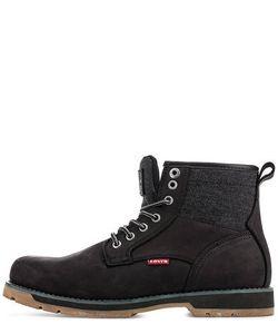 Levi's® | Черные Ботинки С Текстильными Вставками