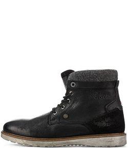 s.Oliver | Кожаные Ботинки С Текстильными Вставками