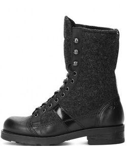 O.X.S.   Демисезонные Ботинки Из Натуральной Кожи И Текстиля