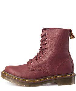 Dr. Martens | Кожаные Ботинки Бордового Цвета