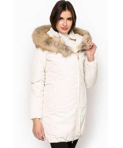 Woolrich   Удлиненный Зимний Пуховик С Меховой Отделкой