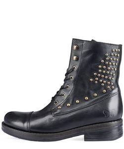 Felmini   Кожаные Ботинки С Металлическим Декором