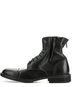 Diesel | Высокие Кожаные Ботинки На Шнуровке
