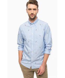 Tommy Hilfiger | Синяя Приталенная Рубашка Из Хлопка