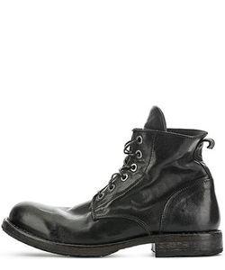 Moma | Высокие Кожаные Ботинки Черного Цвета