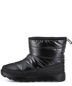 Skechers | Черные Утепленные Полусапоги Из Текстиля