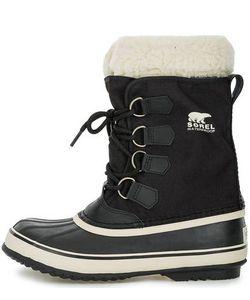 Sorel | Черные Утепленные Ботинки Из Текстиля