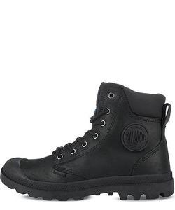 Palladium | Черные Ботинки Из Нубука И Кожи