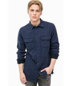 Pepe Jeans London | Синяя Хлопковая Рубашка С Карманами