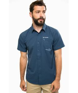 Columbia   Синяя Рубашка С Карманом На Молнии