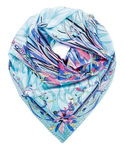 Eleganzza | Шелковый Платок С Ярким Цветочным Принтом