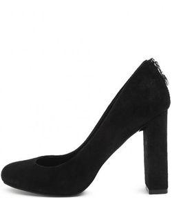 Guess | Черные Замшевые Туфли На Устойчивом Каблуке