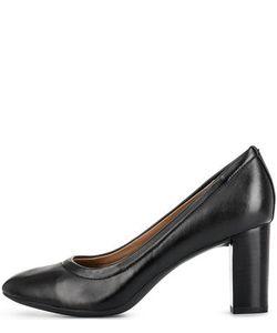 Clarks | Кожные Туфли На Устойчивом Каблуке