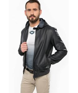ARMANI JEANS | Синяя Куртка Со Съемным Капюшоном