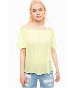 Vero Moda   Желтая Блуза Из Вискозы
