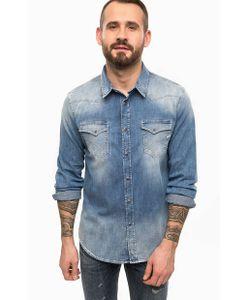 Gas | Синяя Джинсовая Рубашка С Длинными Рукавами