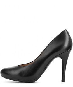 Unisa | Черные Кожаные Туфли На Каблуке И Скрытой Платформе