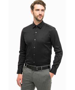 Lacoste | Черная Приталенная Рубашка Из Хлопка