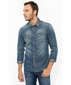 Wrangler | Джинсовая Рубашка С Потертостями