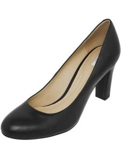 Geox | Черные Классические Туфли На Каблуке