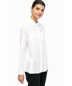 Lacoste | Хлопковая Рубашка С Оборками По Низу