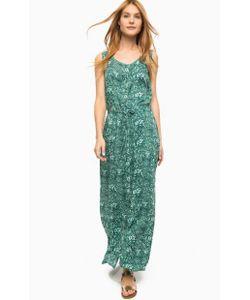 Luhta | Длинное Бирюзовое Платье На Пуговицах Без Рукавов
