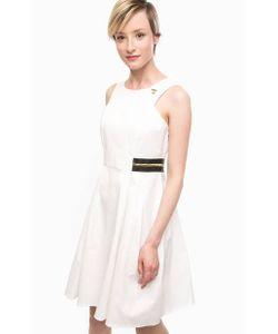 Pois | Приталенное Платье И Хлопка Белого Цвета