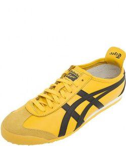 Onitsuka Tiger | Кожаные Кроссовки Желтого Цвета