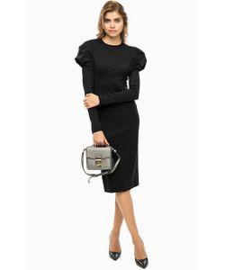 Pinko | Черное Платье Приталенного Силуэта